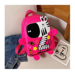 Детский рюкзак, розовый. Веселая зебра.