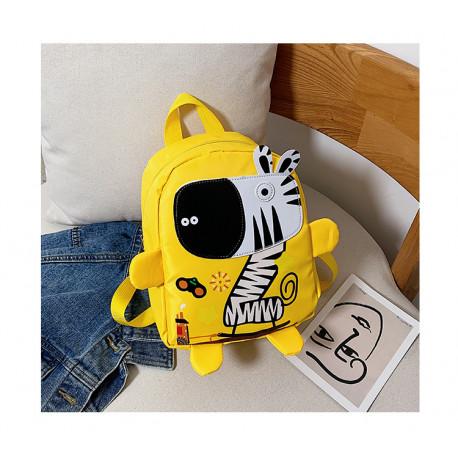 Детский рюкзак, желтый. Веселая зебра.