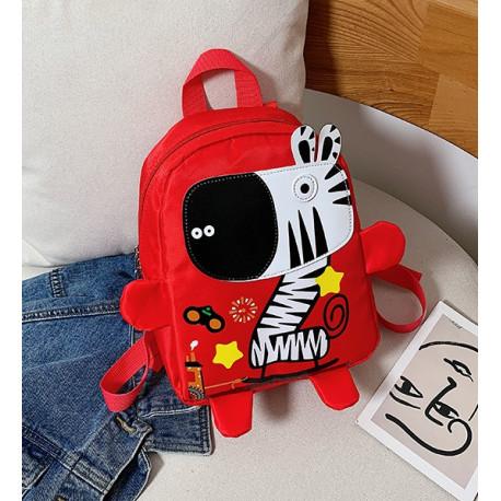 Детский рюкзак, красный. Веселая зебра.