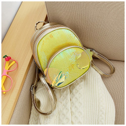 Детский рюкзак, с паетками, желтый. Ангельские крылья.