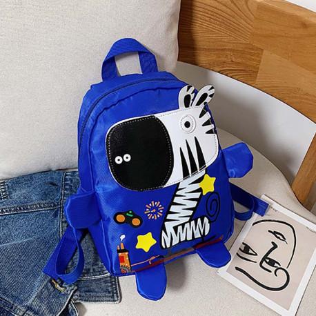 Детский рюкзак, синий. Веселая зебра.