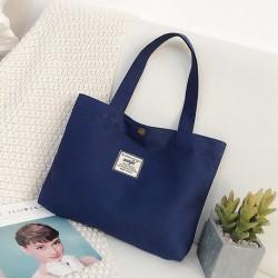 Сумка-шоппер, шоппер, сумка детская, сумка для сменой обуви. Синий.