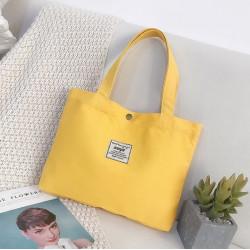 Сумка-шоппер, шоппер, сумка детская, сумка для сменой обуви. Желтый.