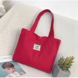 Сумка-шоппер, шоппер, сумка детская, сумка для сменой обуви. Красный.