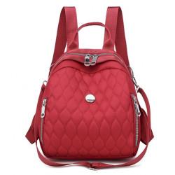 Рюкзак, городской рюкзак, красный. Модные узоры.