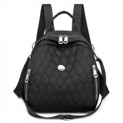Рюкзак, городской рюкзак, черный. Модные узоры.