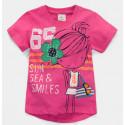 Футболка для девочки, розовая. Супер девочка.