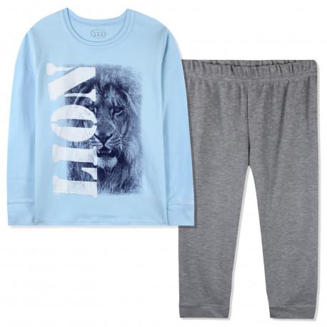 Пижама для мальчика, голубая. Лёва.