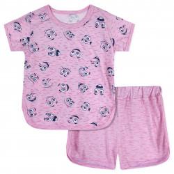 Пижама для мальчика, розовая. Смайлик.