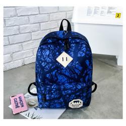 Рюкзак спортивный, синий. Абстракция.