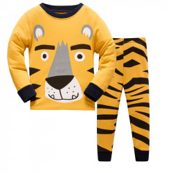 Пижама для мальчика, оранжевая. Большой тигр.