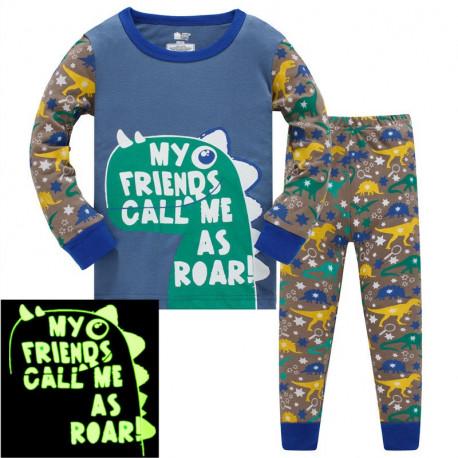 Пижама для мальчика, черная. Крокодил-баскетболист.