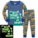 Пижама для мальчика, синяя. Дружелюбный дино.