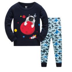 Пижама для мальчика, синяя. Космонавт.