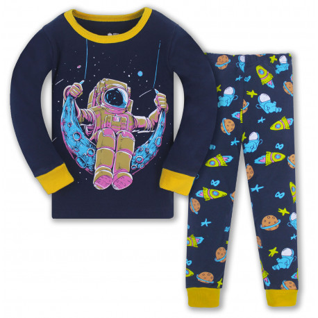 Пижама для мальчика, синяя. Астронавт.