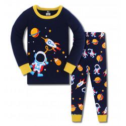 Пижама для мальчика, синяя. Астронавт в космосе.