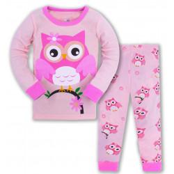 Пижама для девочки, розовая. Милая сова.