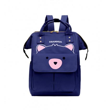 Сумка-рюкзак, мама-сумка, синий. Мишутка.