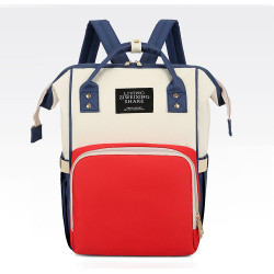 Сумка-рюкзак, мама-сумка. Сине-красный.