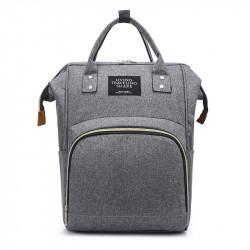 Сумка-рюкзак, мама-сумка. Серый.