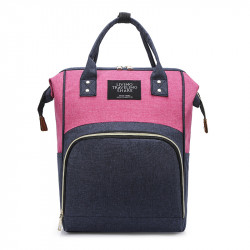 Сумка-рюкзак, мама-сумка. Розово-синий.