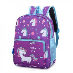 Детский рюкзак, фиолетовый. Единорог и сладости.