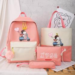 Набор школьный! Рюкзак, сумка, пенал, сумочка. Розовый. Снупи.