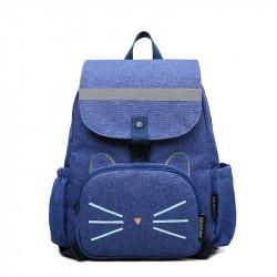 Рюкзак 2 в 1, рюкзак и мини-рюкзак, набор мама-ребенок, синий. Котяра.