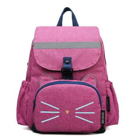 Рюкзак 2 в 1, рюкзак и мини-рюкзак, набор мама-ребенок, розовый. Котяра.