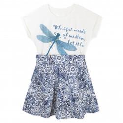 Платье для девочки, синее. Стрекоза.