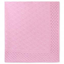 Вязаный плед, детский. Ажурный, розовый. 90*90