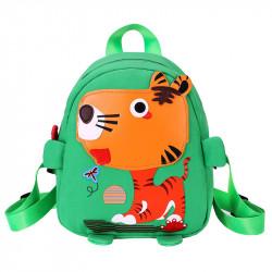 Детский рюкзак, зеленый. Веселый тигр.