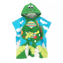 Полотенце пончо. Веселый крокодил. 70*60 см.