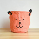 Корзина для игрушек, Мишка, оранжевый.
