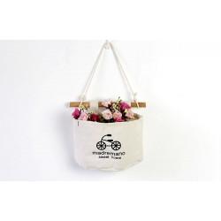 Подвесной органайзер с карманом, белый. Велосипед. ( 1 карман )