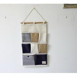 Подвесной органайзер с карманами, синий. Морская тематика. (8 карманов)