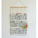 Подвесной органайзер с карманами, белый. Почтовые марки. (8 карманов)