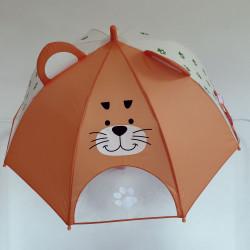 Детский зонтик, оранжевый. Тигруля.