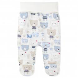 Ползунки для малышей, белые. Мишки Тедди.