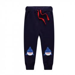 Штаны для мальчика, синие. Зубатые акулы.