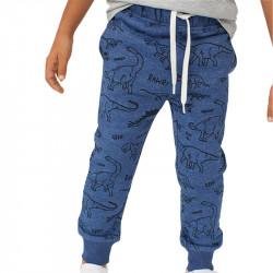 Штаны для мальчика, синие. Динозавры Юрского периода.