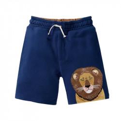 Шорты для мальчика, синие. Лев - царь зверей.