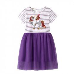 Платье для девочки, фиолетовое. Гламурный пегас.