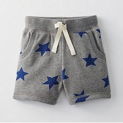Шорты для мальчика, серые. Синие звезды.
