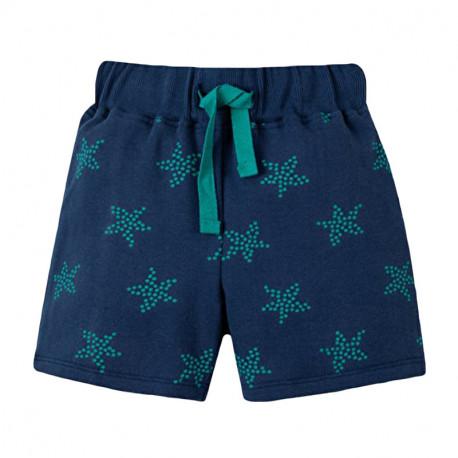 Шорты для мальчика, синие. Зеленые звезды.