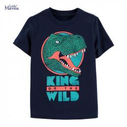 Футболка для мальчика, синяя. Король дикой природы.