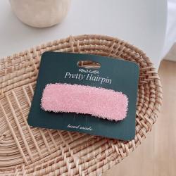 Заколка для волос, розовая. Роса.