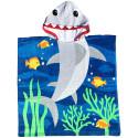 Полотенце пончо. Большая акула. 70*60 см.