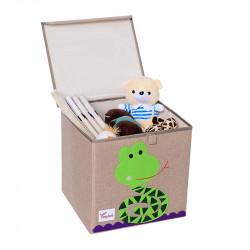 Складной ящик для игрушек с крышкой. Змея.
