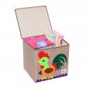 Складной ящик для игрушек с крышкой. Петушок.